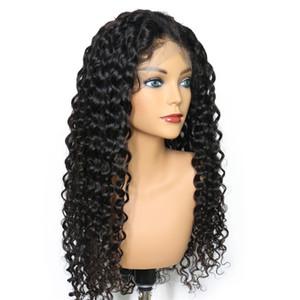 Top Qualité 5x4.5 Soie Top Full Lace Perruques Vague Profonde Brésilienne Full Lace Cheveux Humains Base De Soie Perruque Sans Colle Avant de Perruques