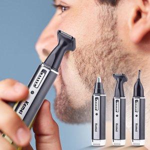 4 in 1 naso dell'orecchio ricaricabile Uomini elettrico regolatore dei capelli indolore Donne tagliare le basette sopracciglia Barba capelli tagliatore di taglio del rasoio