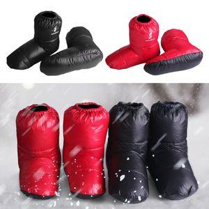 Soft Duck Down Slippers Winter Warm Foot Booties Camping Footwear Outdoor Indoor Camping Accessaries