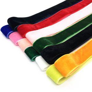 Fashion Velvet Shoelace Women Vintage Trendy 100cm Boots Shoelaces Ribbon One Side Multi Color Athletic Sports Shoe Lace Strings