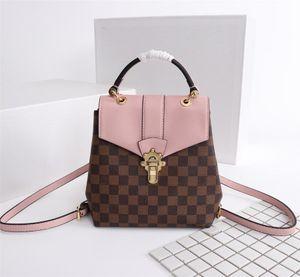 Clapton рюкзак кожаный рюкзак M42262 бренд дизайнерская сумка модная сумка тенденция моды случайный дикий стиль 8,3 х 8,3 х 4,3 дюйма