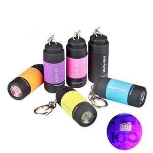 Горячая продажа 395nm Ультрафиолетовое UV Violet Мини светодиодный фонарик USB зарядка Поддельные Detection Key Light Портативное освещение