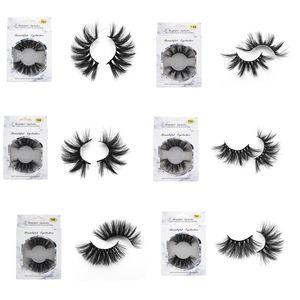 Nouveau 25mm Faux Cils Bande Épaisse 3D Mink Lashes Cils Extra Longs Maquillage Dramatique Longs Cils