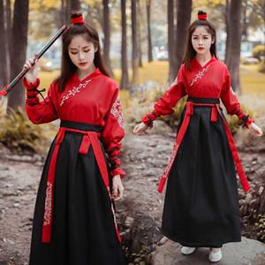 Stage Wear Femmes Costumes National Fairy Robe Tang Dynasty Costumes anciens pour les vêtements de danse folklorique chinois classique Hanfu