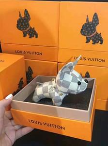 Lo nuevo unisex Llavero monedero colgante perro bolsas de diseño Coches anillos de las cadenas clave para las mujeres regalos de las mujeres de tacón alto de acrílico Llaveros ninguna caja