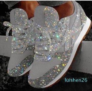 Tıknaz Platformu Vulkanize Bayanlar Loafers Lastik Ayakkabı Zapatos De Mujer L26 artırılması Kadınlar Sneakers Bling takozları Kalın Sole Yükseklik