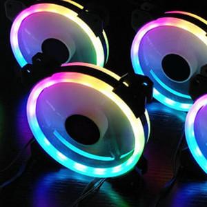 12 см RGB LED компьютер кулер ПК вентилятор охлаждения для CPU + ИК-пульт дистанционного управления + RGB RAM охлаждения оболочки радиатора