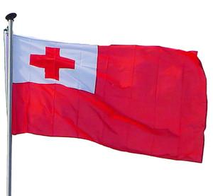 The Kingdom of Tonga Flag 90x150cm TGA Country National Flags of Tonga 3X5FT Banner Custom Style, free shipping