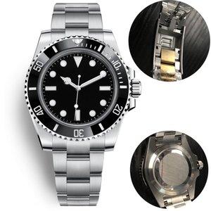 Новые роскошные мужчины автоматические механические часы керамика 40мм полный нержавеющей стали Скользя пряжка Swim наручных часов Сапфир супер прохладный часы
