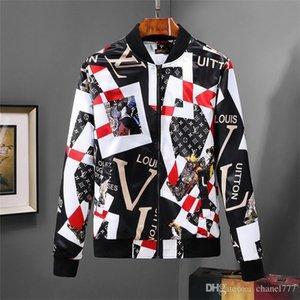 Moda Ceket CLuxury Tasarımcı Moda Erkek Motosiklet Ceket Turn-down Yaka Ince Rahat Erkek Kot Ceket Mavi Üst Satış Erkekler Ceketl ...