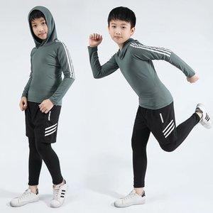2019 automne et d'hiver nouveaux enfants sous-vêtements thermiques à séchage rapide jeu de sous-vêtements thermiques casual longues élastiques compression hommes