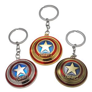 17 stili Avengers Captain America Keychain Superhero Stella Scudo Pendente Accessori Catena Chiave Dell'automobile Batman llaveros Marvel Keychain jssl001