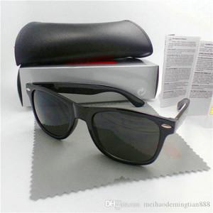 Alta calidad diseñador de la marca de moda Hombres Mujeres gafas de sol UV400 del deporte de la vendimia vidrios de sol grandes retro Eyewear con la caja 987