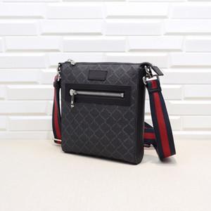 Klasik erkek bir omuz çantası çapraz çanta küçük haberci çantası lüks tasarımcı çantası, boyut: 21 * 23.5 * 4.5cm, ücretsiz kargo, kod: 523599