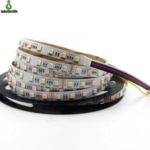 12V24V5M16.5ft300led1RGB+CCT 디머 블 가동 가능한 지구 빛 LED 테이프 빛에 대하여 5050RGBWW5