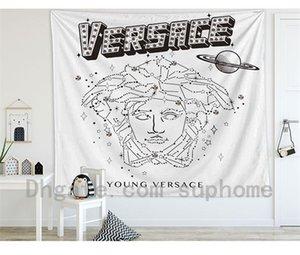 130 * 150CM Vintage Pattern Quarto Tapestry Luxo Moda Deusa Cabeça de tapeçaria High-end fotografia TAPETE DE PAREDE fundo pano