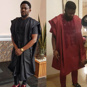 HD africano agbada uomini vestiti dashiki veste camicia mutanda 3 pezzi vestito con abbigliamento formale maschile strass abiti tradizionali 3313