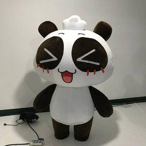 Costume Panda inflável com curto Plush Para 2019 Decoração Parade Cidade Parade Insufláveis Stage Evento Suit