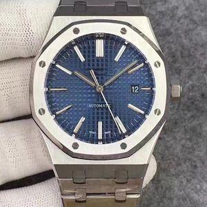 reloj 2020 de la venta caliente movimiento de reloj para los hombres automático línea blanca para hombre de la serie Royal Oak miran 15400 Hombres de acero inoxidable relojes 03