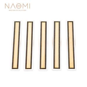 NAOMI 5 PCS Guitarra Clássica Ponte Blocos de Gravata Inlay Tie Blocos PVC Inlay Maple PVC Quadro Série Guitar Parts Acessórios NA-32