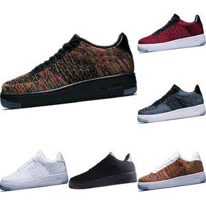 2020 AF1 Düşük Kesim Stretch Örme Nefes Kaykay Ayakkabı Originals AF1 Antiskid Kauçuk Dahili Zoom Air Kıtıklanması Spor Ayakkabı