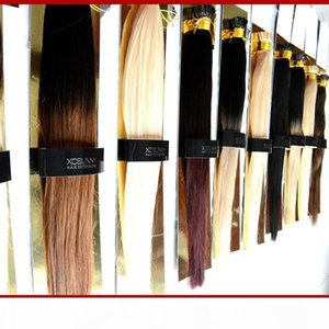 "XCSUNNY 18""20"" I Tip Hair Extensions 100g pk Keratin Fusion Hair Extensions Straight 1g s I Tip Virgin Extensions Hair"