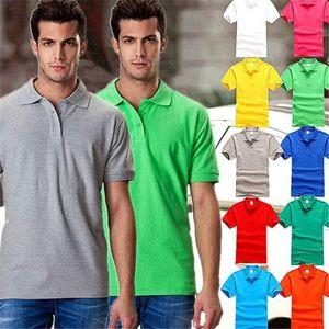 Herren Kurzarm Polo Shirt beiläufige Solid Color-Revers-Ausschnitt Breathable Polo Sommer Herrenkleidung
