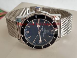 продажи Super Ocean Heritage 42 мм A1732124 | BA61 | 154A Черный циферблат Япония Miyota автоматические мужские часы Керамическая рамка из нержавеющей стали ремешок для часов