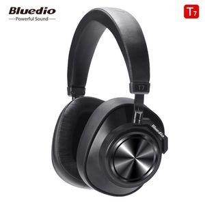 NEW Bluedio T7 + Bluetooth 5,0 умный AI стереогарнитура Head-смонтированный снижение активных шумовых беспроводной гарнитуры Бесплатная доставка