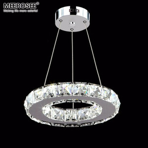Modern LED Crystal Pendant Light Fixture Aisle Porch Hallway Lamp Crystal LED Chandelier light Ring Lustres Hanging Lamp 100% Guarantee