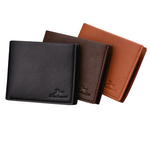 Hot Sale New Style Men Wallets Quality Soft PU Leather Black Brown Casual Business Card Holder Purse Wallet