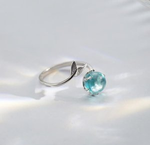 -Sereia Atacado anel de dedo senhoras anel de espuma japonês e rede coreana pessoas maré vermelha personalidade aberta jóias fresco
