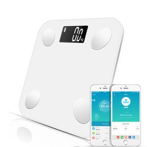 Bluetooth Kat Vücut Ağırlığı Banyo Ölçeği Akıllı aydınlatmalı ekran Ölçeği Vücut Ağırlığı Vücut Yağ Su Kas Kitle BMI Scales