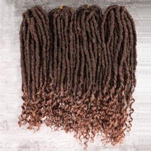 2x مامبو العضوية إلهة locs 18 بوصة جدائل الكروشيه الشعر التمديد 24 جذور متموجة فو locs أسلوب جديلة للنساء السود