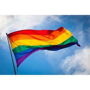 Drapeau arc-en-6styles transgenre Gay Pride bannière, lesbiennes, bisexuels transgenres LGBT arc-en-Gay Pride Party Drapeaux Bannière GGA3491-3