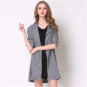 Usura delle 2019 di stile Hot Spring autunno usura casuale delle donne versatili cappotto delle donne lunghe del manicotto di modo Donne Boutique Trend