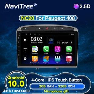 4core 2G + 32G 9inch 2DIN Android 10 Lecteur DVD de voiture pour 408 pour 308 308SW Radio Navigation GPS voiture WIFI écran IPS