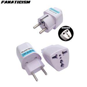 Штепсель Фанатизм Международная универсальная 2 Pin UK / US / AU Для EU Бразилия Италия зарядное устройство Электрический Plug адаптер конвертер гнездо