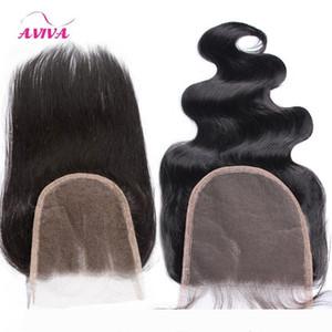 5x5 Brazilian Human Hair Lace Closures 9A Grade Virgin Peruvian Malaysian Indian Cambodian Mongolian Body Wave Straight Swiss Closure 5&quot