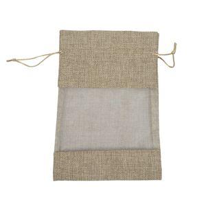 Presentes 30pcs Linho organza sacos de serapilheira com cordão Bolsa Sacos do Natal Wedding Party Bag para grãos de café doce Maquiagem Jóias Pac