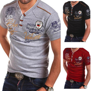 ZOGAA Mens T Shirt Brands Male Short Sleeve shirts Casual Slim Fit T-Shirt Solid Color V Neck Men Clothing Summer Tops Tees
