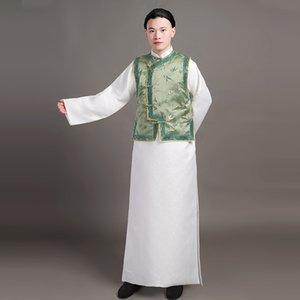 Китайский стиль Древний костюм династии Цин принц платье традиционной этнической одежды Тан костюм для мужчин телефильма стадии износа