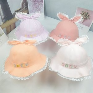 Baby sun female baby autumn thin cotton large eaves Bucket toque lace women's hat cute foreign style lace girl fisherman hat tide