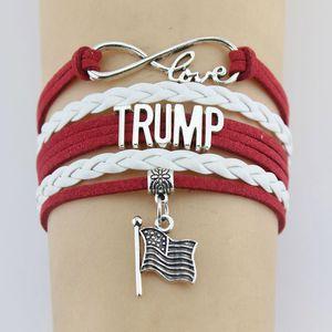 Trump 2020 Weaving Bracelet faire de l'Amérique Grand Encore une fois commémorative Wristband USA Bannière Président Mode Bracelet élection Fournitures XD22813