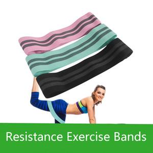 Женщины Хлопок Hip Упражнение Резинка Профессионального Фитнес тренировки Йог Сопротивление Группа Упражнение для растягивания обучения 3 цвета M429F