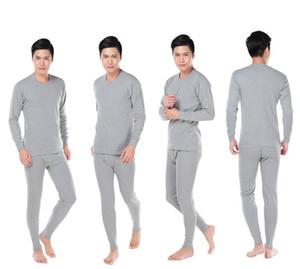 Toptan-Men Termal İç Giyim% 100 Pamuk Katı Sıcak Kalite Uyku Set Üstü Ve Pant Erkekler Uzun Johns Seti fz0222