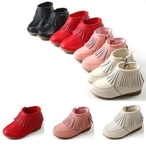 2020 Auturn toutes nouvelles filles de vente casual chaussures enfants initialisent bébé fond de tendon rboots de leathe noir chaussures de sport blanc rose rouge taille 25-33