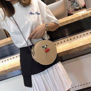 Charm2019 Fairy Straw Плетеная летняя сумка с цепочкой Сумочка Sweet Girl Маленький круговой пакет Косая сумка