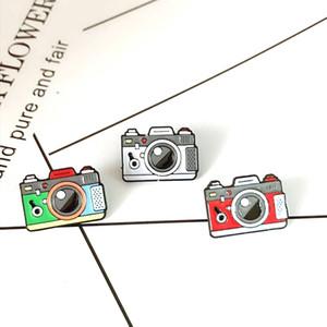 gris Rouge Vert Caméra couleur arc-en-Broche 3Color appareil photo numérique émail Pins manteau Cap Backpack Photographie et cadeaux enfants Badge