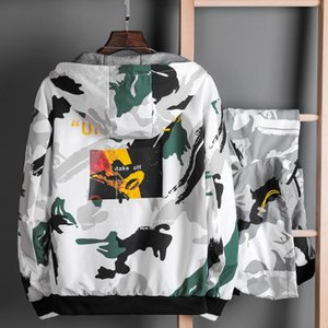 Fashion Men Jacke mit Printed Luxus Herbst und Winter Herren Designer Beidseitige Camouflage-Mantel-Jacken-Qualitäts-Kleidung Größe M-3XL